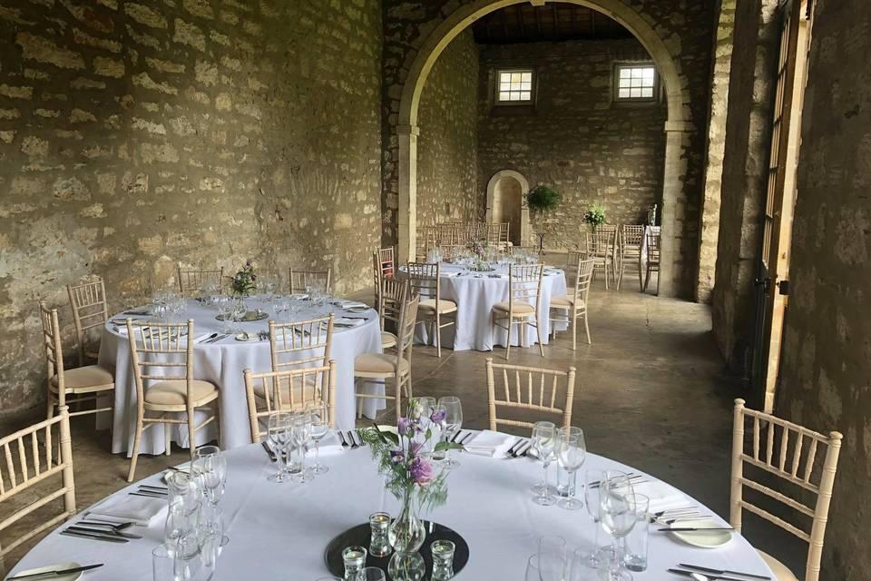 An indoor reception