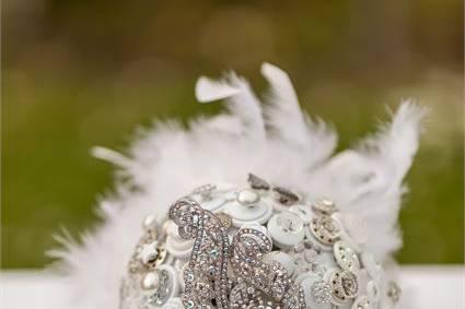 Button & Brooch Bouquet