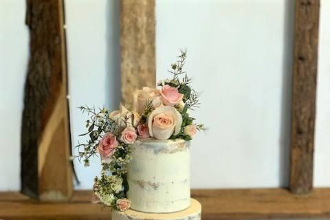 Buttercream & Fresh Flowers