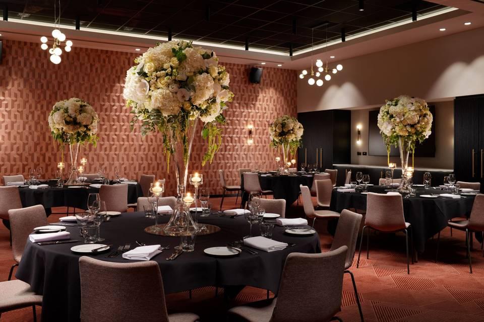Lavish private dining room