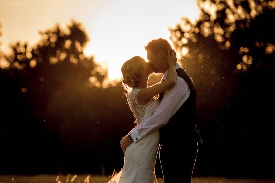 Newlyweds at sunset - Robin Goodlad Photography