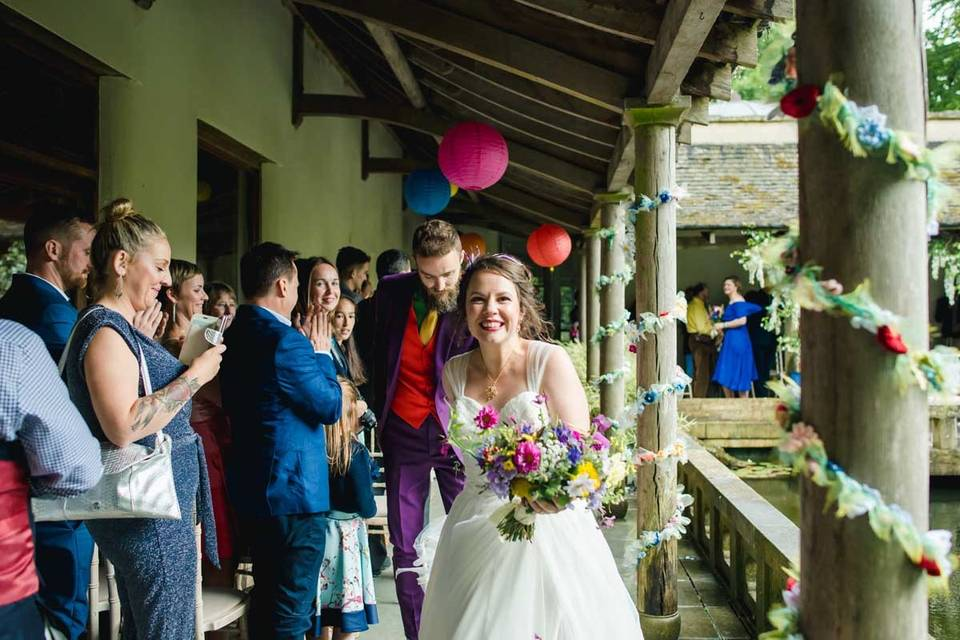 Couple in Covered Walkway