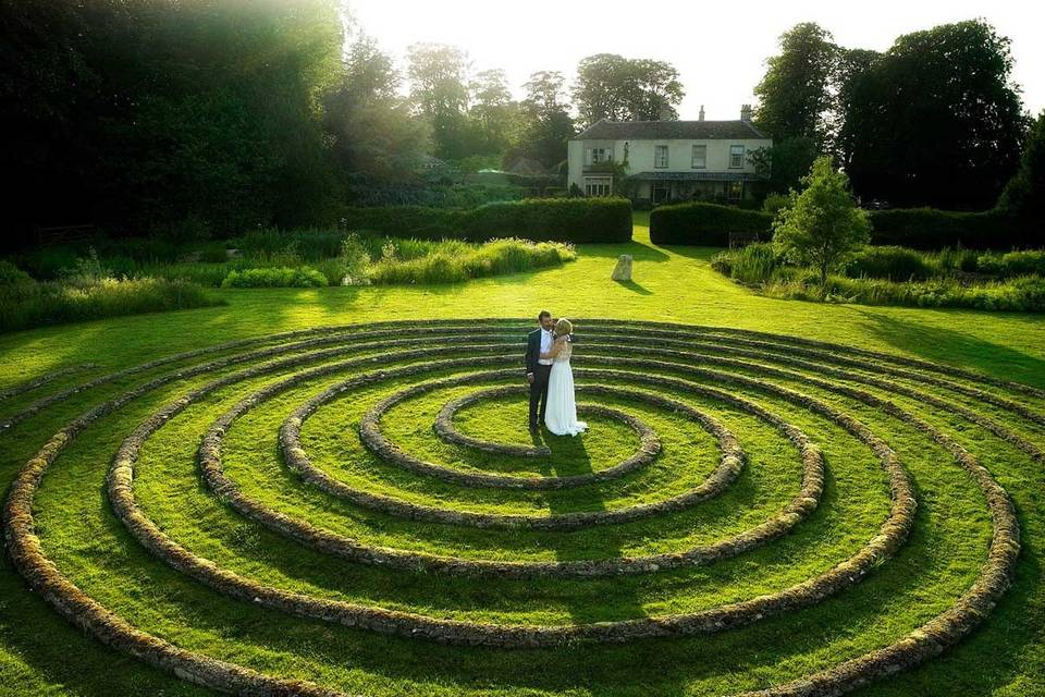 Couple in Wedding Spiral