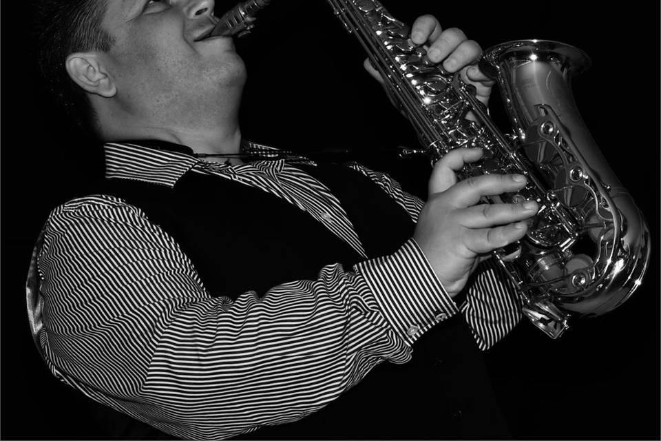 Live saxophone music