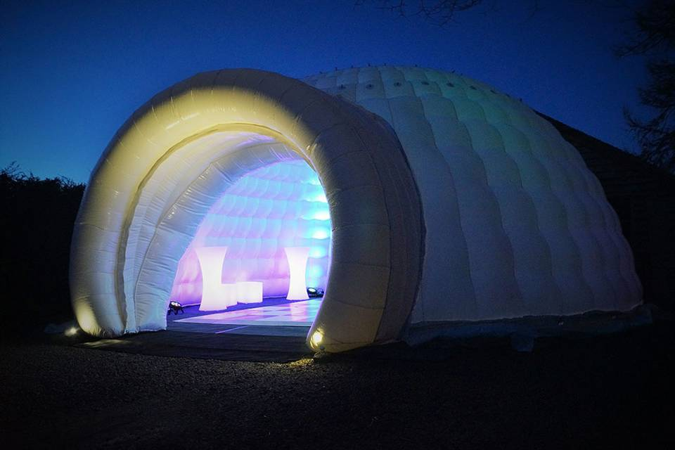 Our inflatable igloo