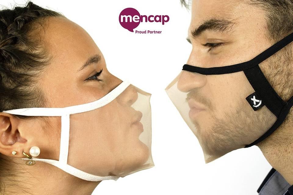 Transparent face masks for weddings