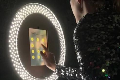 Touch-screen photo booth