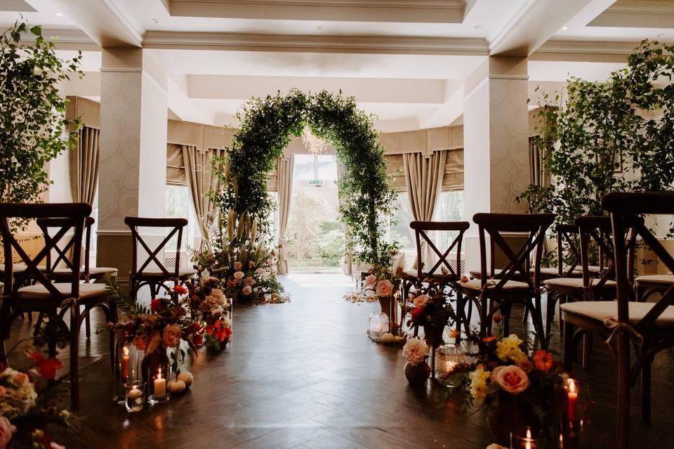 Elegant ceremony space