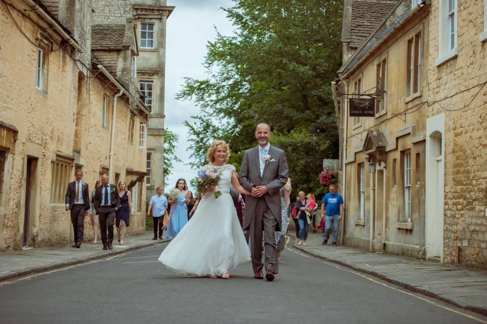 Rural village wedding