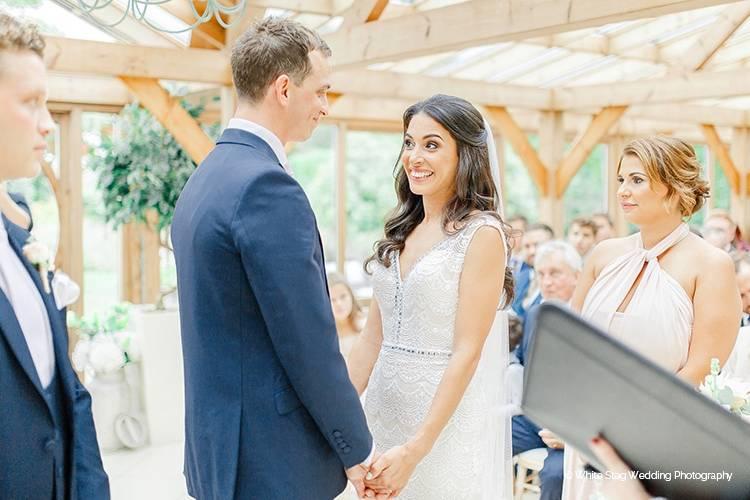 Romantic wedding ceremony in The Orangery