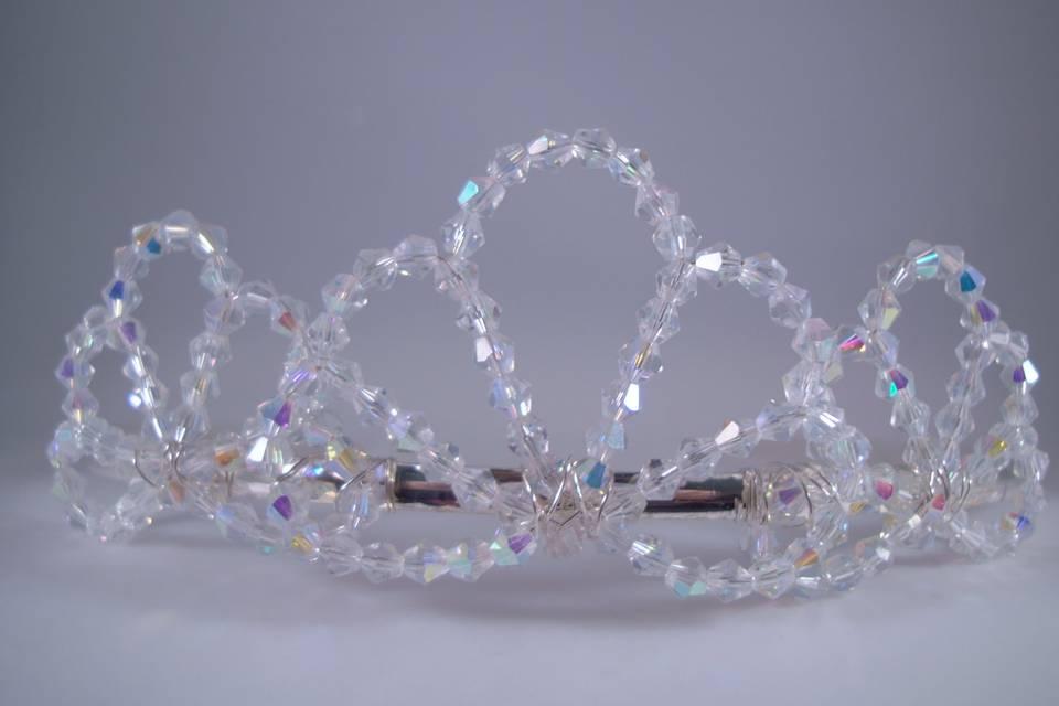 AB Clear Crystal Bridal Tiara