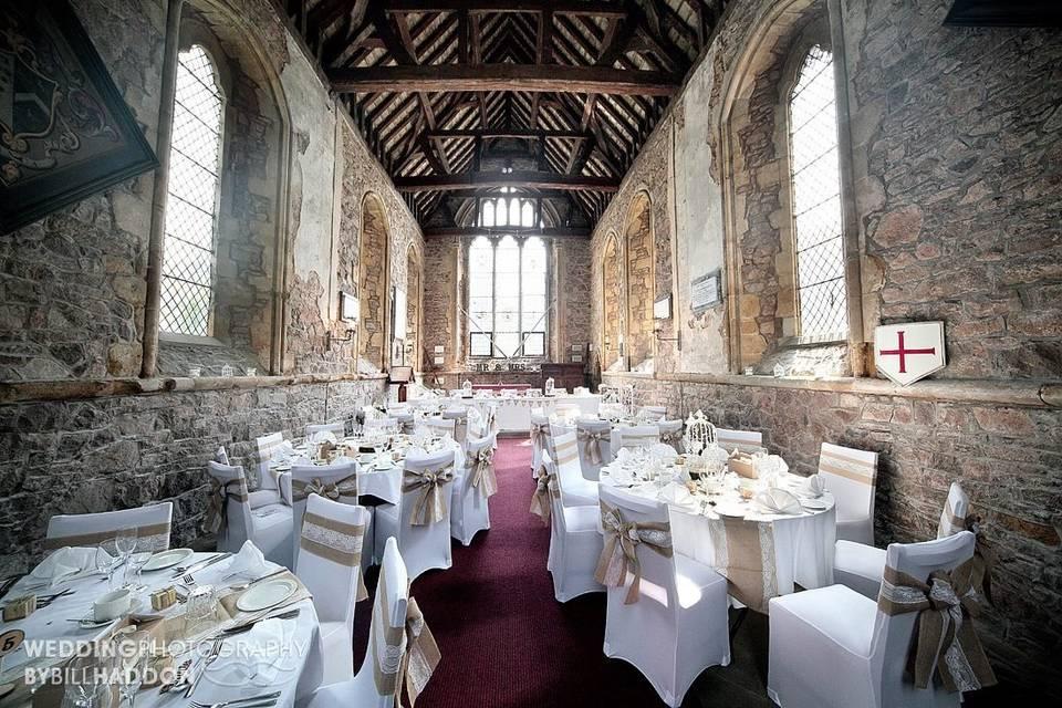 Elegant chapel reception