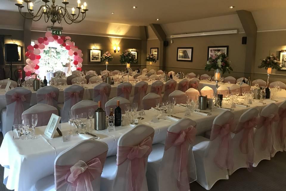 Large wedding reception